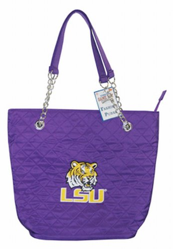 NCAA Louisiana State Fightin Tigers Ladies Quilted Purse with Chain Handle ()