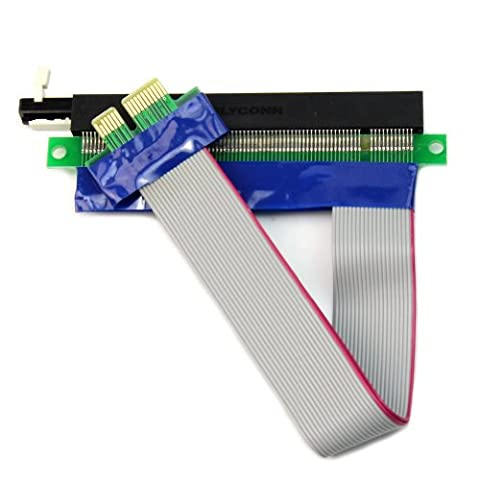 PCIE Micro pcie 1x to 16x Riser Card Adapter Extender Flex Flexible Extension Cable - Flat Flex Ribbon Cable