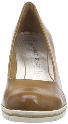 MARCO TOZZI premio 22419, Women's Closed Pumps Braun (Nut Antic 444)