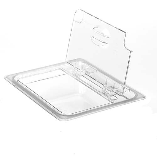 Cambro Manufacturing 30CWLN135 Camwear FlipLid Cover Third Size Notched Clear (1 Each) by Cambro