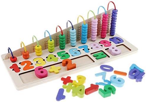 sharprepublic 知育玩具 算術アバカス 数学計算 算数学習 形合わせ ブロック 数学玩具 算術練習 木製