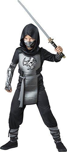 InCharacter Combat Ninja Costume, Black/Gray, -