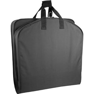 WallyBags 40 Inch Garment Bag, Black, One Size