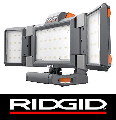 - Ridgid 18 Volt Hybrid Gen5X Cordless Folding Panel Light Bare Tool (Bulk Packaged) (Certified Refurbished)