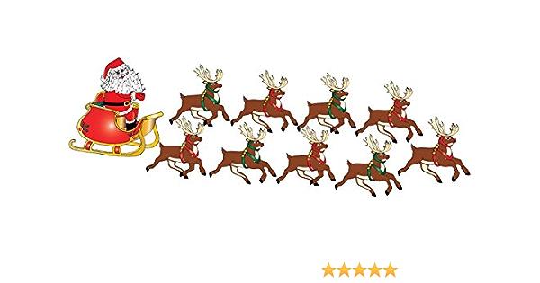Christmas Santa Snow Scene Wall Stickers