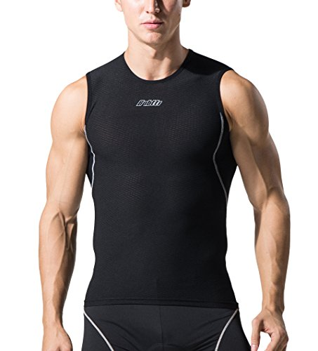 Bpbtti Men's Compression Baselayer,Tank Top, Sleeveless Micro Mesh Undershirt(Pack Of 2) Moisture Wicking and Comfortable