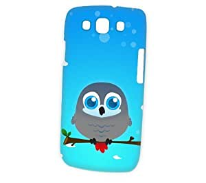 Case Fun Samsung Galaxy S3 (i9300) Case - Vogue Version - 3D Full Wrap - African Grey Parrot by DevilleART