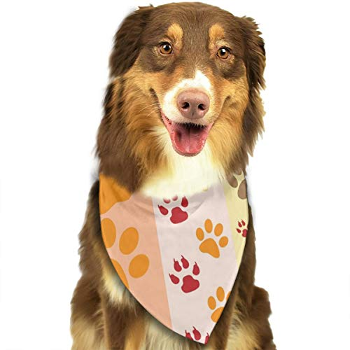 Pet Scarf Dog Bandana Bibs Triangle Head Scarfs Paw Prints Colorful Accessories for Cats Baby Puppy -