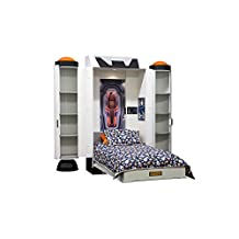"""Fable Bedworks Wallbed, """"Deepspace Defender,"""" Twin Size Spaceship Theme Bed"""