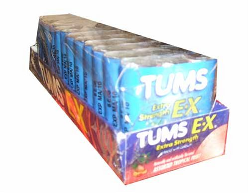 UPC 307667393255, Tums Extra Strength E-x, Antacid Chewable Tablets, Assorted Fruit - 12/3 Roll Packs (36 Rolls Total)