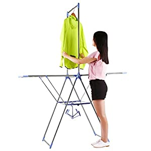 KICODE Clofy Drying Rack Stainless Steel Folding Clothes Dryer