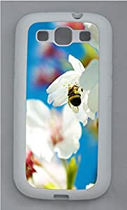 Samsung S3 Case Spring Bee and flowers TPU Custom Samsung S3 Case Cover White