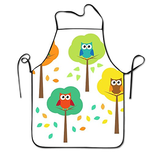 Summer Owl Tree Kitchen Aprons For Women And Men - Adjustable Neck Strap - Restaurant Home Kitchen Apron Bib For Cooking, Grill And Baking, Crafting, Gardening, - Q Logo Sunglasses