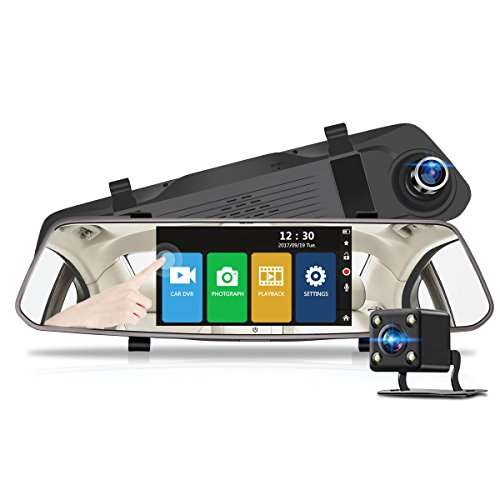 "Cheap 5"" 1080P HD Dual Dash Camera, 170 Degree Wide Angle Lens Touch Screen Car Cam Dash Recording for Car Driving Video Recorder Cam Vehicle Front Rear DVR Lens"