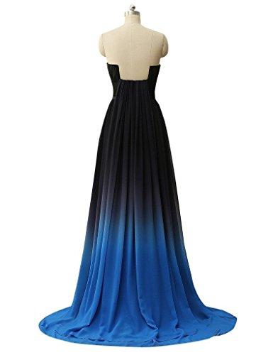 Clearbridal Bandage UK18 Abendkleid Formale Maxikleid Farbverlauf Kleid Damen Chiffon Brautjungfer SD231 nZvZXrqx1