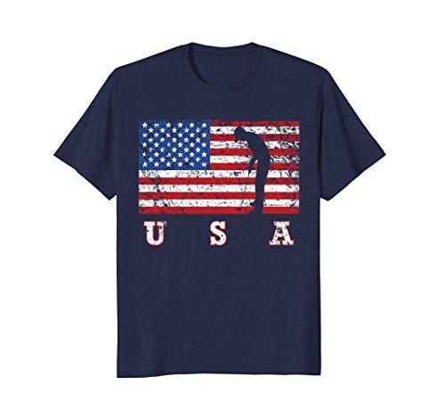 Mens American Flag Golf Shirt, USA Gift, Golf Team Gift XL - Golf Usa Shirts Team