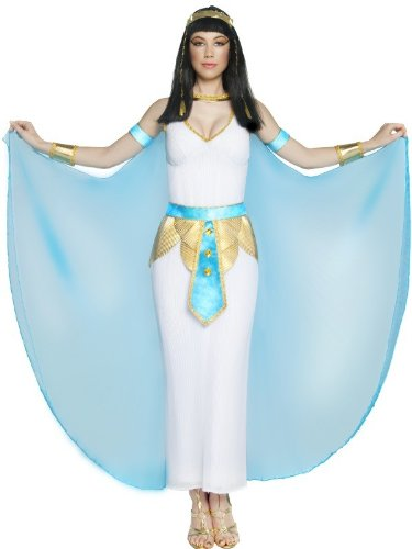 Cleopatra Uk Costume (partyman Big Girls' Deluxe Cleopatra Costume UK Dress 12-14 White &)