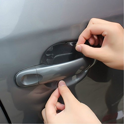 Meccion 12Pcs Universal Invisible Car Door Handle Paint Scratch Protector Sticker Protective (Car Paint Protector)