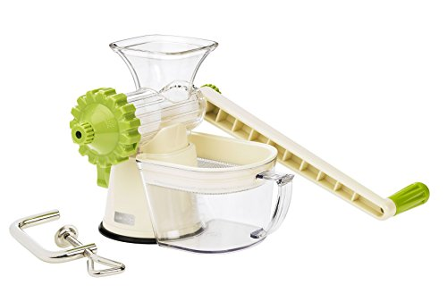 Lurch Germany Green Power Manual Juicer, Green and Cream White
