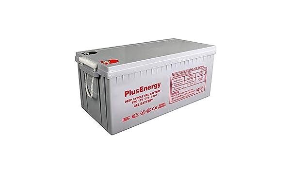PlusEnergy Bateria Gel TPG250 12V 200AH-250AH c10-c100: Amazon.es: Electrónica