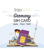 travSIM Duitse SIM Kaart (Three UK SIM Kaart) Geldig voor 30 Dagen - 6GB Mobiele Data - Duitsland UK Three Duitse SIM Kaart - Inclusief Gesprek en SMS naar 30+ Europese Landen