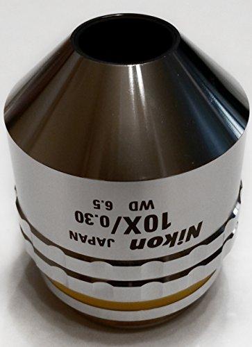 Nikon   Cf Plan 10X 0 30   0 Bd Wd 6 5  Brightfield   Darkfield  Microscope Objective Lens  Mum00102