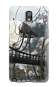 For Galaxy Case, High Quality Attack Of The Alien Robots For Galaxy Note 3 Cover Cases