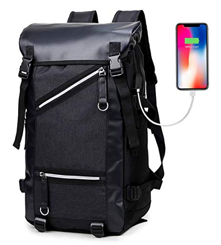 Laptop Backpack, Airlab Travel Backpack with USB Charging Port Stylish Anti-Theft School Bag Fits 15.6 Inch Laptop Comfort Pack for/Men/Women/College