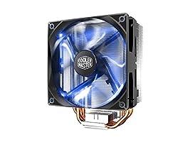 Cooler Master Blizzard T400i Blue - CPU Cooler XtraFlo 120 Blue LED PWM Fan & 4 Direct Contact Heatpipes - Intel Socket LGA 2066/2011-v3/2011/1156/1155/1151/1150/1366/775