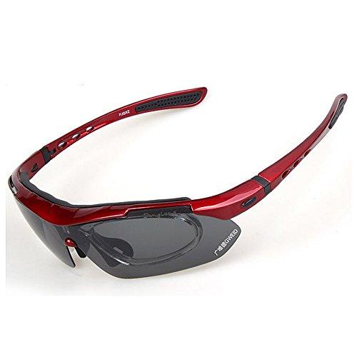 Al Deportes Aire de Libre Intercambiables Polarizado Red Sol Los Solar Hombre LBY Conducen Que Aire Red Gafas Color Libre Conduce Los Vidrios Que Deportes Al para 85WFcWqd