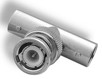 Amphenol 112461 BNC Tee Adapter, Jk-Pl-Jk, 50 Ohm Impedance, 4Hz Max Frequency
