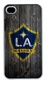 Iphone 4/4s Cover Los Angeles Galaxy Logo, DIY White Skin Sides PC Hard Protector Case of Cecilydreaming