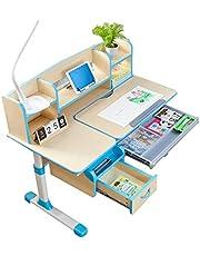 Intexca Children Multi Function Height Adjustable Ergonomic Study Desk Children Desk Kids Study Desk - Blue Color