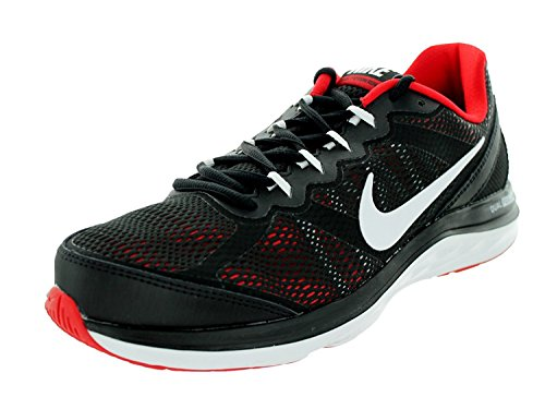 Nike Mens Dual Fusion Run 3, Black/White/University Red, 41 D(M) EU/7 D(M) UK