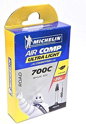 Michelin 916182 - Camara de Bicicleta Ultra, Negro, 700x18x23 ...