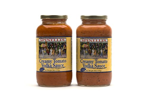Creamy Vodka Sauce - Spinelli's Gourmet Pasta Sauce Kit (2 JARS-Creamy Tomato Vodka Sauce) All natural, Healthy, No Preservatives, Gluten Free, Best Authentic Italian Sauce, Free From Added Sugars, Ripe Real Tomatoes