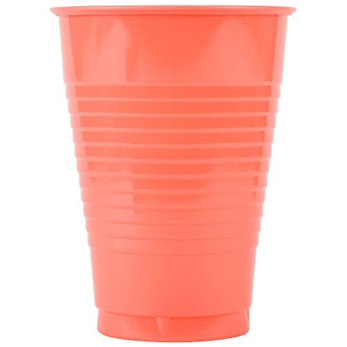 Creative Converting 318882 12 oz. Fresh Mint Green Plastic Cup - 240/Case