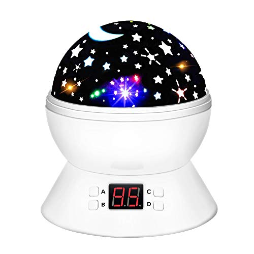 LET'S GO! DIMY Best Top Popular Toys for 2-10 Year Old Boys Girls, Multicolor Projector Star Night Lights for Kids Fun Party Favor Popular Hot Birthday Gifts for 2-10 Year Old Girls Boys White DMUSS1 ()