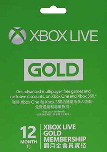 Amazon.com: Xbox Live 12 Month Gold Membership Card-instruction In ...