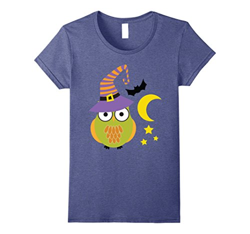 Womens Cute Unique & Easy Last Minute Owl Halloween Costume T-Shirt Small Heather (Cute Last Minute Halloween Costumes For Women)
