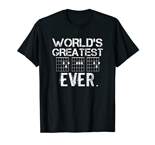 Worlds Greatest Dad Ever T Shirt Guitar Fathers Day Gifts