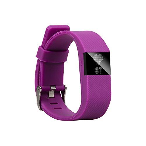 BlueWeigh Rainbow HR Fitness Activity Tracker with Sleep and Heart Monitors, Purple
