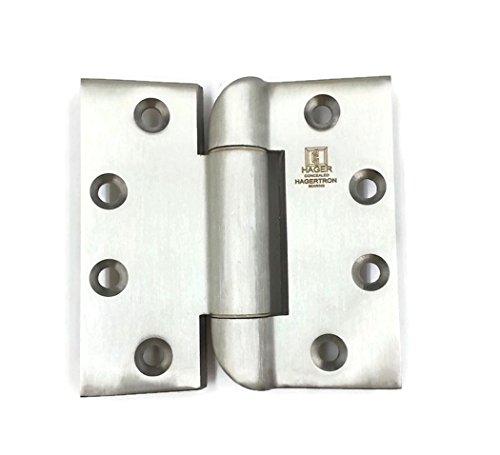 Hager Stainless Steel Hagertron Hinge IHT-HB953 RSS 4.5 x 4.5 US32D/630 Hospital Tip, Torx Screws, Concealed Bearing Hinge - Box of 3 Hinges