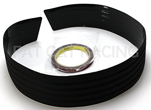 Universal Style JDM Black Side Skirt Flared Rubber Lip Protector