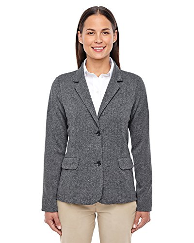 (Devon & Jones Fairfield Herringbone Soft Blazer (D886W) -DK GREY HEAT)