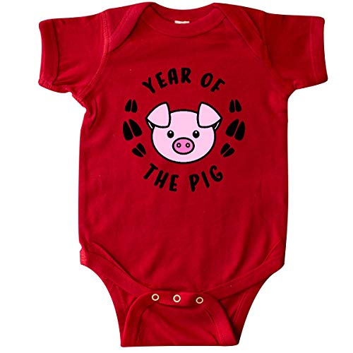 inktastic - Year of The Pig Chinese Zodiac Infant Creeper 6 Months Red 3359b