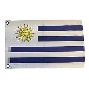 Uruguay poliéster país banderas para fuera saludando con el desfile 12unidades mano o 12pulgadas x 18pulgadas Arandela