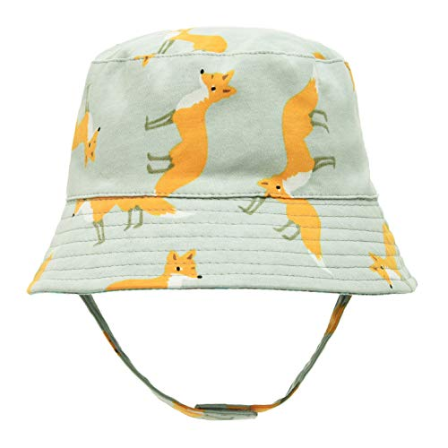 (ERISO Baby Boys Hats Fox - Baby Bucket Hat Cotton Summer Play Cap, Stay-on ((18.8