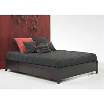 modus furniture sp23d6 simple platform storage bed california king espresso - California King Bed Frame With Drawers