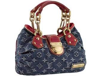 1feb4cd161ac Image Unavailable. Image not available for. Color  Louis Vuitton Pleaty  Denim Alligator Purse Hand Bag